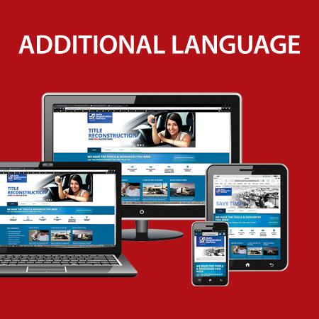 Additional Website Language